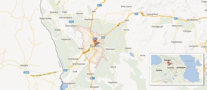 gyumri map